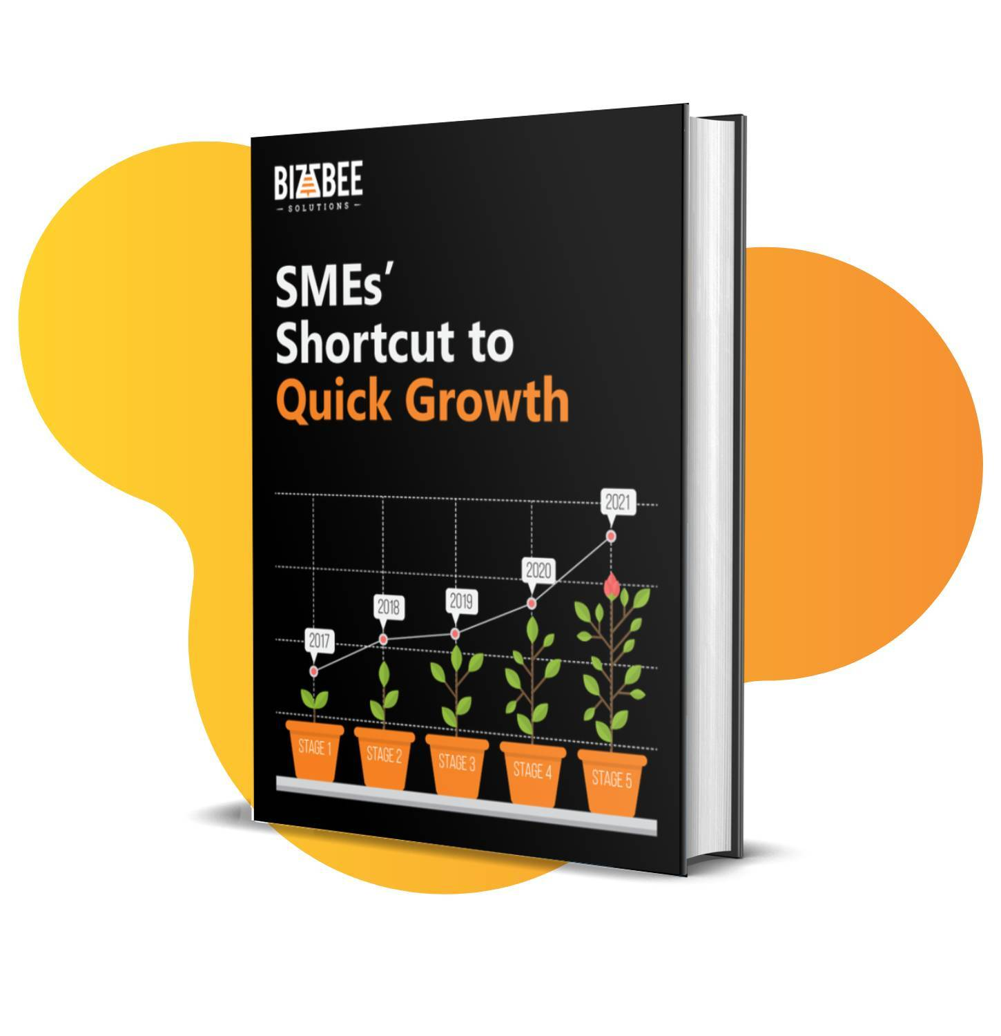 BizzBee's ebook 'SMEs Shortcut to Quick Growth' cover design.